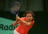 Netherlands, The Hague,  March 10, 2017, Tennis,  National Indoor Junior Championships, NOJK, 12-16 years, Isis van den Broek (NED)<br /> Photo: Tennisimages/Henk Koster