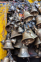 Nepal, Patan.  Hindu Temple Bells, Kumbeshwar Temple.  The temple was damaged in April 2015 earthquake, but not destroyed.