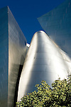 Detail of the Walt Disney Concert Hall, designed by architect Frank Gehry, Los Angeles, California