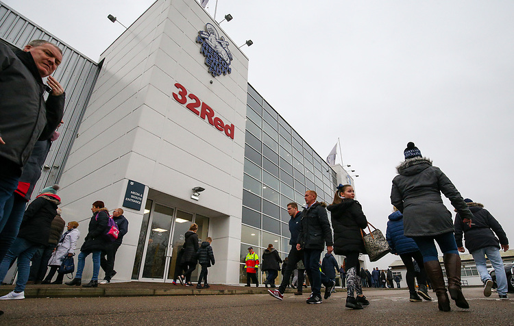 A general view of Deepdale Stadium, home of Preston North End FC<br /> <br /> Photographer Alex Dodd/CameraSport<br /> <br /> The Emirates FA Cup Third Round - Preston North End v Doncaster Rovers - Sunday 6th January 2019 - Deepdale Stadium - Preston<br />  <br /> World Copyright &copy; 2019 CameraSport. All rights reserved. 43 Linden Ave. Countesthorpe. Leicester. England. LE8 5PG - Tel: +44 (0) 116 277 4147 - admin@camerasport.com - www.camerasport.com