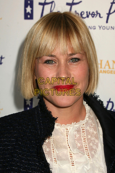"PATRICIA ARQUETTE.The Trevor Project's Cracked Xmas 9 ""Mistletoe, Mischief & Myrrh!"" at the Wiltern LG, Los Angeles, California, USA, 03 December 2006..portrait headshot fringe red lipstick.CAP/ADM/BP.©Byron Purvis/AdMedia/Capital Pictures."