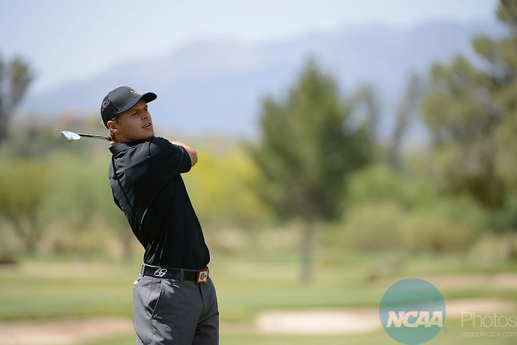 05 MAY 2013:  The Mountain West Conference Men's Golf Championship takes place at the Omni Tucson National Golf Course in Tucson, AZ.  Jamie Schwaberow/NCAA Photos