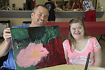 Sean Carrigan and Sarah- A Painting Party where actors and children and adults do paintings to be auctioned off at the Night of Stars and on the Marco Island Princess- Actors from Y&R, General Hospital and Days donated their time to Southwest Florida 16th Annual SOAPFEST - a celebrity weekend May 22 thru May 25, 2015 benefitting the Arts for Kids and children with special needs and ITC - Island Theatre Co. on May 23 , 2015 on Marco Island, Florida. (Photos by Sue Coflin/Max Photos)