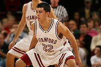 13 January 2006: Jason Haas during Stanford's 75-61 win over the California Golden Bears at Maples Pavilion in Stanford, CA.
