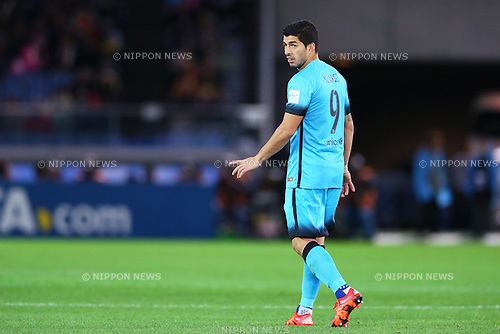 Luis Suarez (Barcelona), <br /> DECEMBER 17, 2015 - Football / Soccer : <br /> FIFA Club World Cup Japan 2015 <br /> semi-final match between Barcelona 3-0 Guangzhou Evergrande <br /> at Yokohama International Stadium in Kanagawa, Japan.<br /> (Photo by Yohei Osada/AFLO SPORT)