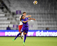 Orlando, FL - Saturday July 07, 2018: Marta, Rebecca Quinn during the second half of a regular season National Women's Soccer League (NWSL) match between the Orlando Pride and the Washington Spirit at Orlando City Stadium. Orlando defeated Washington 2-1.