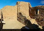 McElmo-style Type V Masonry, Pueblo del Arroyo Chacoan Great House, Anasazi Hisatsinom Ancestral Pueblo Site, Chaco Culture National Historical Park, Chaco Canyon, Nageezi, New Mexico