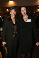 STANFORD, CA - NOVEMBER 14:  Kristin Folkl (Kristin Kaburakis) with Amy Tucker during the Stanford Hall of Fame Induction Ceremony on November 14, 2008 at the Schwab Residential Center in Stanford, California.