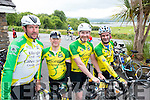 Patrick O'Connor, Mike Leen, Derry O'Sullivan and John O'Sullivan, Killorglin, Cyclists at the Ring of Kerry Charity Cycle on Saturday.