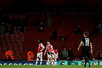 28th November 2019; Emirates Stadium, London, England; UEFA Europa League Football, Arsenal versus Frankfurt; A dejected Arsenal team after the 1-2 loss - Editorial Use