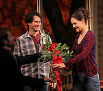 Josh Hamilton & Katie Holmes during Broadway Opening Night Performance Curtain Call for 'Dead Accounts' at the Music Box Theatre in New York City. November 29, 2012.