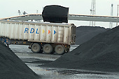 Moving unloaded coal at Immingham Docks, on the Humber estuary.