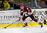 23 January 2009: University of Massachusetts Minutemen forward Casey Wellman, a Freshman from Brentwood, CA, in action against the University of Vermont Catamounts during the first game of a weekend series at Gutterson Fieldhouse in Burlington, Vermont. The Catamounts defeated the visiting Minutemen 2-1. Mandatory Photo Credit: Ed Wolfstein Photo
