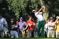 Matteo Manassero (ITA) during the final day of the  Andalucía Masters at Club de Golf Valderrama, Sotogrande, Spain. .Picture Fran Caffrey www.golffile.ie