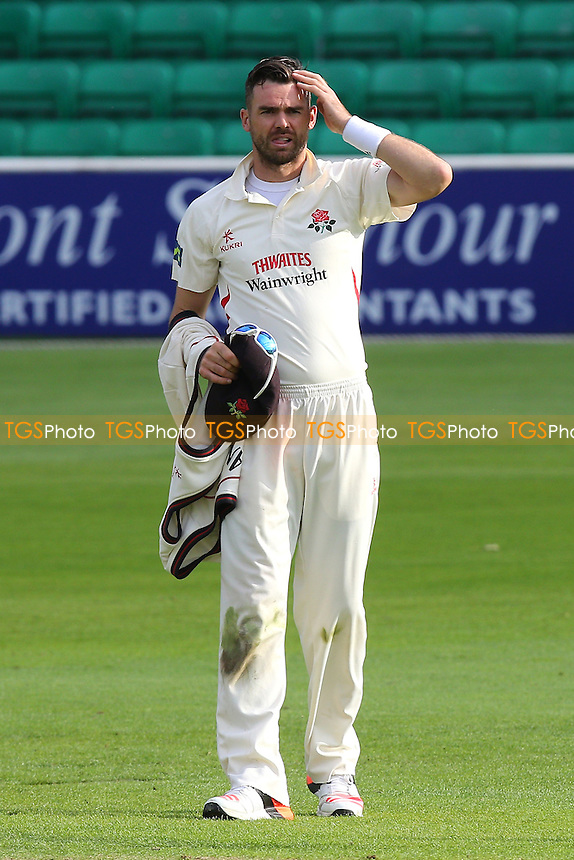 James Anderson of Lancashire prepares to bowl during Essex CCC vs Lancashire CCC, Day Two