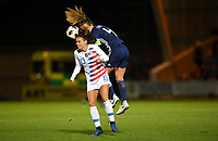 Paisley, Scotland - Tuesday November 13, 2018: The women's national teams of the United States (USA) and Scotland (SCO) play in an international friendly game at Simple Digital Arena.