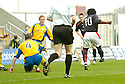 02/04/2005         Copyright Pic : James Stewart.File Name : jspa05_falkirk_v_st_johnstone.RUSSELL LATAPY SCORES FOR FALKIRK.....Payments to :.James Stewart Photo Agency 19 Carronlea Drive, Falkirk. FK2 8DN      Vat Reg No. 607 6932 25.Office     : +44 (0)1324 570906     .Mobile   : +44 (0)7721 416997.Fax         : +44 (0)1324 570906.E-mail  :  jim@jspa.co.uk.If you require further information then contact Jim Stewart on any of the numbers above.........A