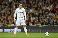 08.04.2012 SPAIN -  La Liga matchday 32th  match played between Real Madrid CF vs Valencia (0-0) and falls to 4 points behind Barcelona, at Santiago Bernabeu stadium. The picture show Cristiano Ronaldo (Portuguese forward of Real Madrid)