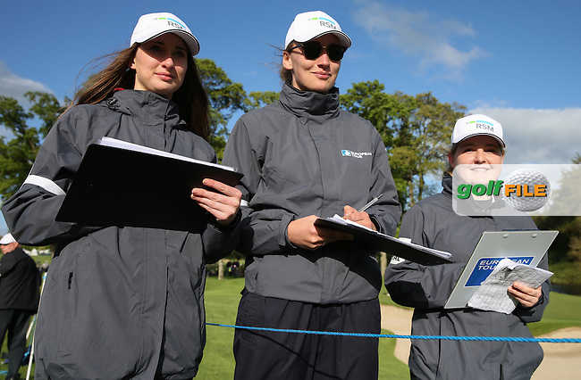 RSM girls hard at work during Round One of the 2016 Dubai Duty Free Irish Open Hosted by The Rory Foundation which is played at the K Club Golf Resort, Straffan, Co. Kildare, Ireland. 19/05/2016. Picture Golffile | David Lloyd.<br /> <br /> All photo usage must display a mandatory copyright credit as: &copy; Golffile | David Lloyd.