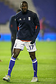 1st November 2017, St. Andrews Stadium, Birmingham, England; EFL Championship football, Birmingham City versus Brentford; Cheick Ndoye of Birmingham City warms-up prior to the match