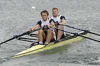 Munich, GERMANY, 2006, FISA, Rowing, World Cup, GBR M2X Bow Matt Wells and Stephen Rowbotham,  held on the Olympic Regatta Course, Munich, Thurs. 25.05.2006. © Peter Spurrier/Intersport-images.com,  / Mobile +44 [0] 7973 819 551 / email images@intersport-images.com..[Mandatory Credit, Peter Spurier/ Intersport Images] Rowing Course, Olympic Regatta Rowing Course, Munich, GERMANY