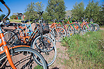 Colorful Bicycles Ready for a Tour around the Island of Kökar
