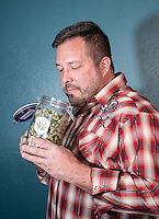 President of Medicine Man Andy Williams, in the company grow house in Denver, Colorado, Wednesday, April 8, 2015. Medicine Man boasts that it is one of Denver's largest marijuana operations.<br /> <br /> Photo by Matt Nager