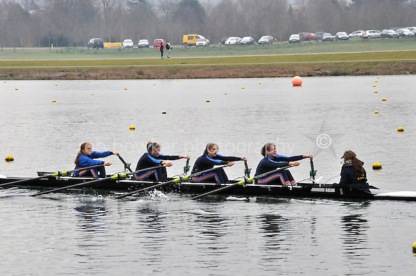 541 SirWPerkinssSch W.J13A.4x+..Marlow Regatta Committee Thames Valley Trial Head. 1900m at Dorney Lake/Eton College Rowing Centre, Dorney, Buckinghamshire. Sunday 29 January 2012. Run over three divisions.