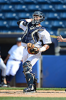 Staten Island Yankees catcher Isaias Tejeda #29 during a game against the Connecticut Tigers on July 7, 2013 at Richmond County Bank Ballpark in Staten Island, New York.  Staten Island defeated Connecticut 6-2.  (Mike Janes/Four Seam Images)