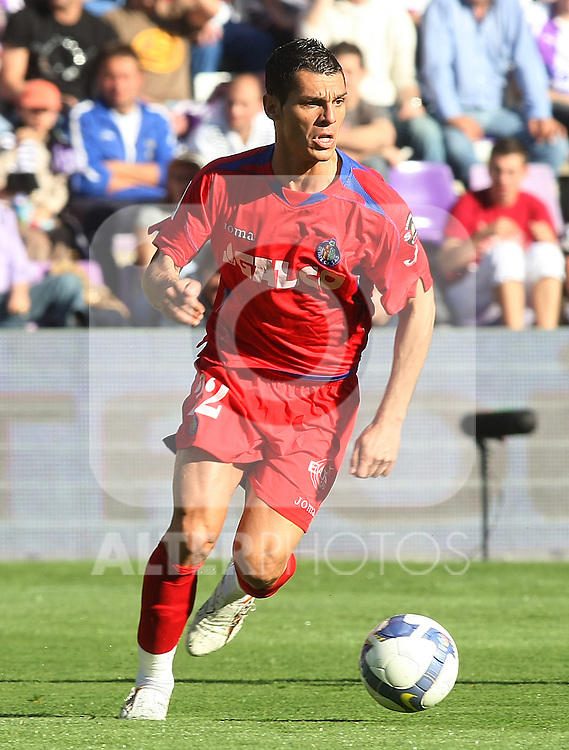 Getafe's Javier Casquero during La Liga match.March 15 2009. (ALTERPHOTOS/Acero).