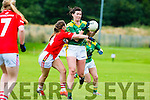 Lorraine Scanlon Kerry goes past Marie Ambrose Cork during the Munster final in Killarney  Sunday evening