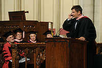 Actor Alec Baldwin receives an honorary Doctor of Musical Arts degree at the 2012 Commencement of the Manhattan School of Music at Riverside Church in New York City. May 11, 2012. ©mpi01/MediaPunch Inc.