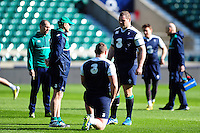 Mike Ross of Ireland looks on. Ireland Captain's Run on February 26, 2016 at Twickenham Stadium in London, England. Photo by: Patrick Khachfe / Onside Images