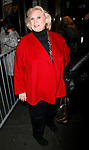 Barbara Cook arriving for the Roundabout Theatre Company's Opening Night Production  of  A MAN FOR ALL SEASONS at the American Airlines Theatre in New York City.<br />