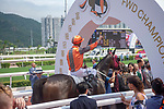 SHA TIN, HONG KONG – APRIL 28:Win Bright, ridden by Masami Matsuoka wins the Group 1 FWD QEII Cup on FWD Champions Day at Sha Tin Racecourse in Hong Kong. Michael McInally/Eclipse Sportswire/CSM