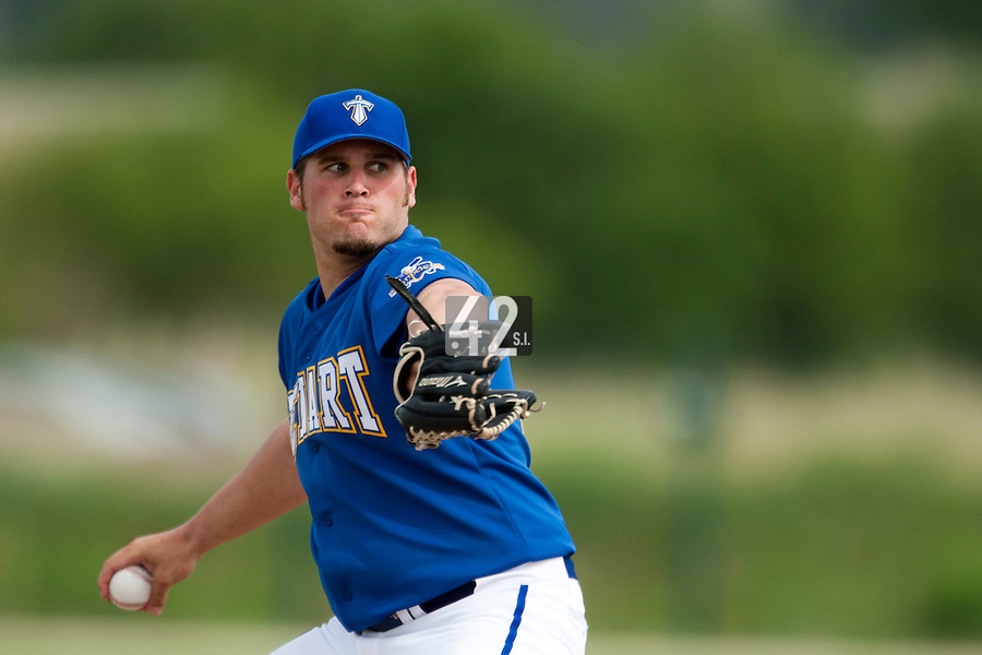 22 May 2009: Rhett Teller of Senart pitches against Montpellier during the 2009 challenge de France, a tournament with the best French baseball teams - all eight elite league clubs - to determine a spot in the European Cup next year, at Montpellier, France. Senart wins 7-1 over Montpellier.