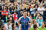 Riders and teams are introduced to the crowd before the Tour de France Saitama Critérium 2017 held around the streets os Saitama, Japan. 3rd November 2017.<br /> Picture: ASO/Pauline Ballet | Cyclefile<br /> <br /> <br /> All photos usage must carry mandatory copyright credit (© Cyclefile | ASO/Pauline Ballet)