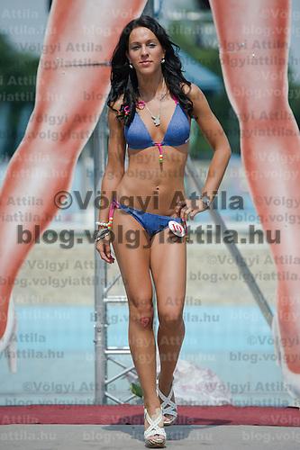 Fatima Fazekas attends the Miss Bikini Hungary beauty contest held in Budapest, Hungary on August 06, 2011. ATTILA VOLGYI
