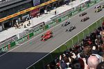 15.04.2018, Shanghai Audi International Circuit, Shanghai, 2018 FORMULA 1 HEINEKEN CHINESE GRAND PRIX, 12.04. - 15.04.2018<br /> im Bild<br />Sebastian Vettel (GER#5), Scuderia Ferrari, Kimi Raikkonen (FIN#7), Scuderia Ferrari, Valtteri Bottas (FIN#77), Mercedes AMG Petronas Formula One Team, Lewis Hamilton (GB#44), Mercedes AMG Petronas Formula One Team, Max Verstappen (NEL#33), Aston Martin Red Bull Racing, Daniel Ricciardo (AUS#3), Aston Martin Red Bull Racing<br /> <br /><br /> <br /> Foto &copy; nordphoto / Bratic