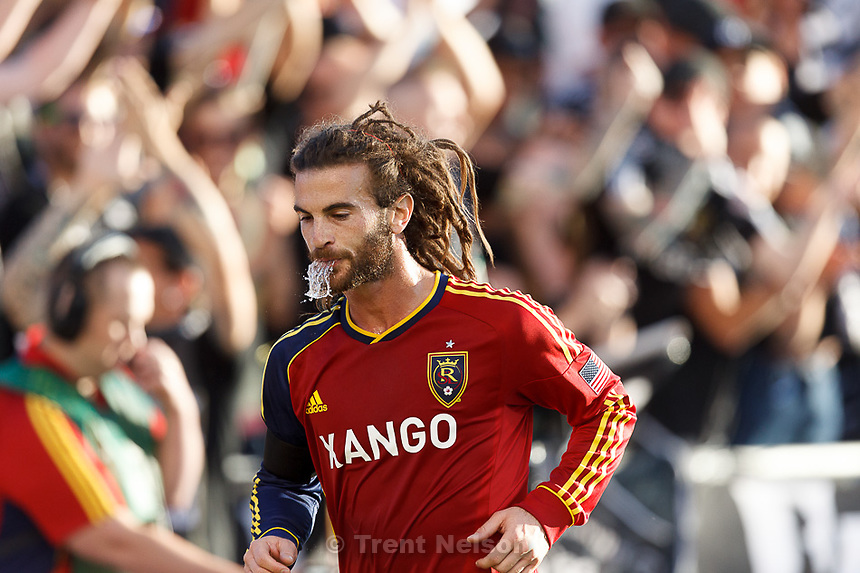 Trent Nelson  |  The Salt Lake Tribune.Kyle Beckerman as Real Salt Lake hosts the L.A. Galaxy, MLS Soccer at Rio Tinto Stadium Wednesday, June 20, 2012 in Salt Lake City, Utah.