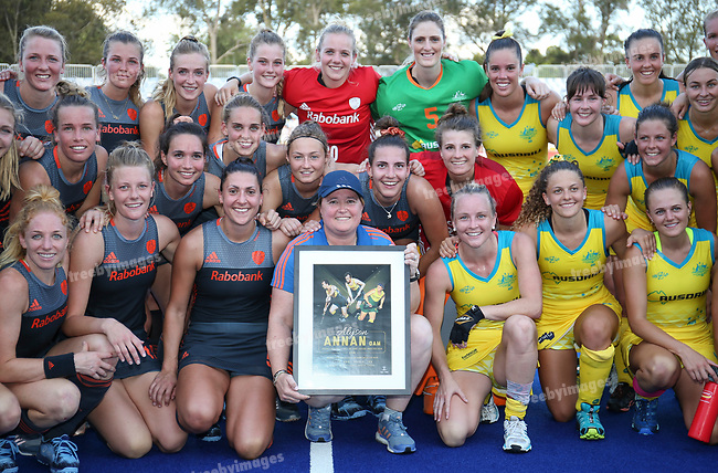 Hockey Australia<br /> Hockey Pro League Melbourne<br /> Hockeyroos v Netherlands <br /> 02/02/19<br /> <br /> <br /> <br /> Photo: Grant Treeby