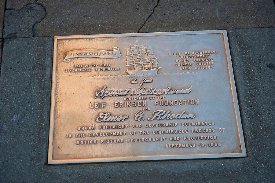 Elmer Rhoden, Dedication Plaque, Stars,  Hand - Footprint, Impressions, Grauman's, Chinese, Theater, Hollywood, CA