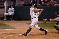 August 24, 2010: Everett AquaSox's Anthony Phillips at-bat during a Northwest League game against the Tri-City Dust Devils at Everett Memorial Stadium in Everett, Washington.