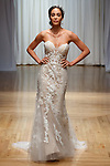 Model walks runway in a Hampton gown from the Beloved Bridal collection at the Casablanca Bridal 20th anniversary celebration runway show, on October 8, 2017; during New York Bridal Fashion Week Spring 2018.