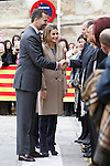 Prince Felipe of Spain and Princess Letizia of Spain visit Alcaniz village on November 7, 2012 in Alcaniz, Teruel, Spain.(ALTERPHOTOS/Harry S. Stamper)