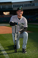 Dayton Dragons catcher Tyler Stephenson (9) poses for a photo before a game against the Peoria Chiefs on May 6, 2016 at Dozer Park in Peoria, Illinois.  Peoria defeated Dayton 5-0.  (Mike Janes/Four Seam Images)