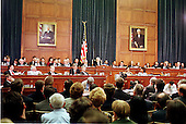 General view of Special Prosecutor Kenneth Starr's testimony during a United States House Judiciary Committee hearing on pending Articles of Impeachment against U.S. President Bill Clinton on Capitol Hill in Washington, D.C. on November 19, 1998..Credit: Ron Sachs / CNP