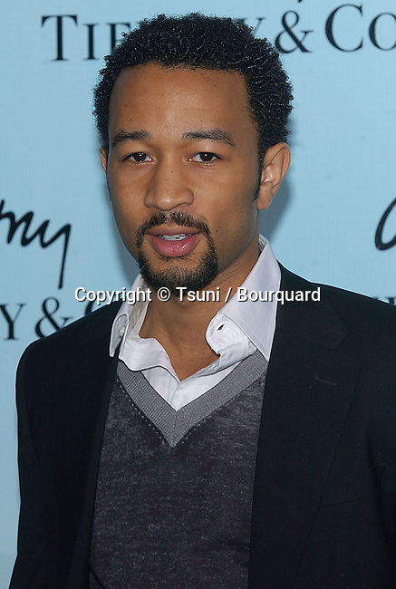 John Legend arriving at Launch of Frank Gehry's Premier Collection on Rodeo Drive at the Tiffany & Co. Store in Los Angeles, March 27, 2006.
