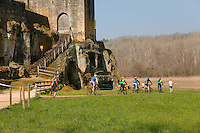 Passage au château de Commarques