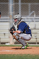 Caleb Pendleton during the WWBA World Championship at the Roger Dean Complex on October 18, 2018 in Jupiter, Florida.  Caleb Pendleton is a catcher from Jensen Beach, Florida who attends Jensen Beach High School and is committed to Florida Atlantic.  (Mike Janes/Four Seam Images)